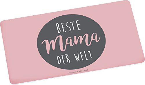 infinite by GEDA LABELS (INFKH) Brettchen Beste Mama der Welt Frühstücksbrett Melamin, Grau, 23,5 x 14 x 0.5 cm