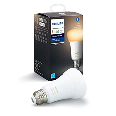Philips Hue White Ambiance A19 LED Smart Bulb, Bluetooth & Zigbee compatible (Hue Hub Optional), Works with Alexa & Google Assistant – A Certified for Humans Device