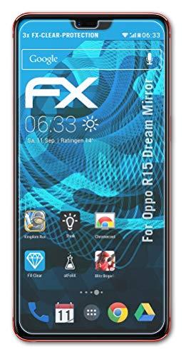 atFolix Schutzfolie kompatibel mit Oppo R15 Dream Mirror Folie, ultraklare FX Bildschirmschutzfolie (3X)