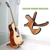 xionggg cremagliera di legno della chitarra, portatile scomparto mobile chitarra elettrica acustica per classiche chitarre stand