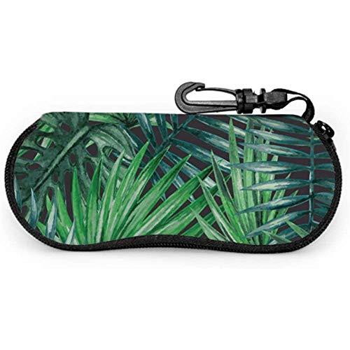Mei-shop Tropical Rainforest Colorful Palm Trees Funda de gafas de sol para mujer Funda de gafas de sol universal Funda de gafas de sol para mujer Funda