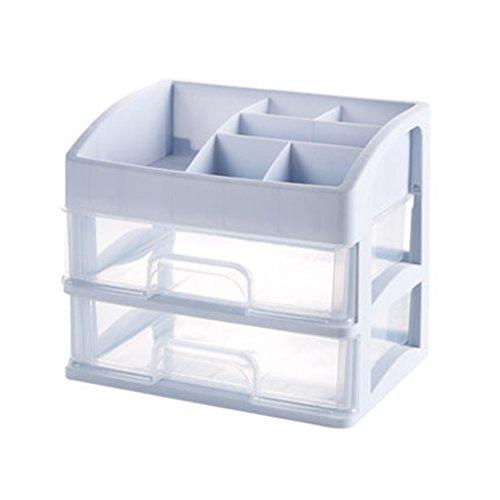 Coffrets de maquillage Boîte de Rangement cosmétique Support de Stockage de tiroir étagère de Table de Dressage Support de Stockage Multicouche 27 * 23cm (8.2 * 9.1 Pouces) (Color : Gray)