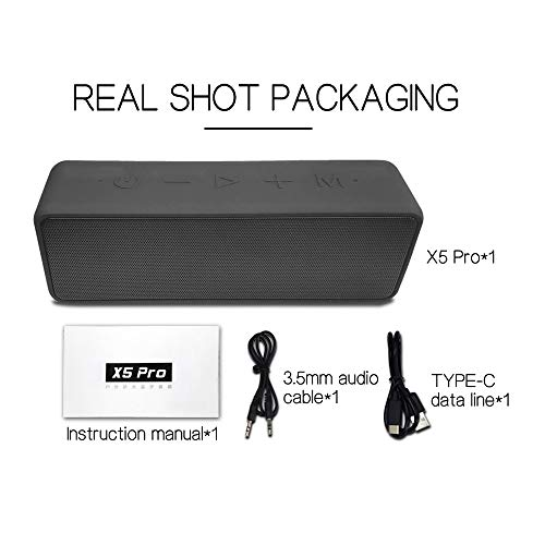 Gamogo X5 Pro 20W Inalámbrico BT 5.0 Altavoz IPX7 Altavoces Exteriores Impermeables Portátiles TWS Estéreo Caja de Sonido de Graves AUX IN Reproducción de Tarjeta TF Manos Libres con micrófono