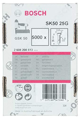 Bosch Professional 2608200513 Nagel 1,2/18g-Senkkopfnagel SK50 25G