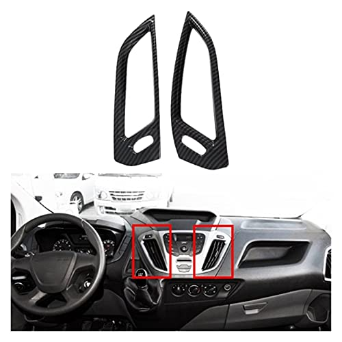 FENGFANG XIAO Store Coche Interior Dashboard Center CA Outlet Outlet Outlet Cover Fit para Ford Transit 2017 Ford Tourneo Custom 2016 (Color : Carbon Fiber Color)