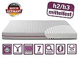 BMM Matratze Klassik 19 - orthopädische 7-Zonen Kaltschaummatratze 90x200 cm, H2 / H3 mittel-fest,...