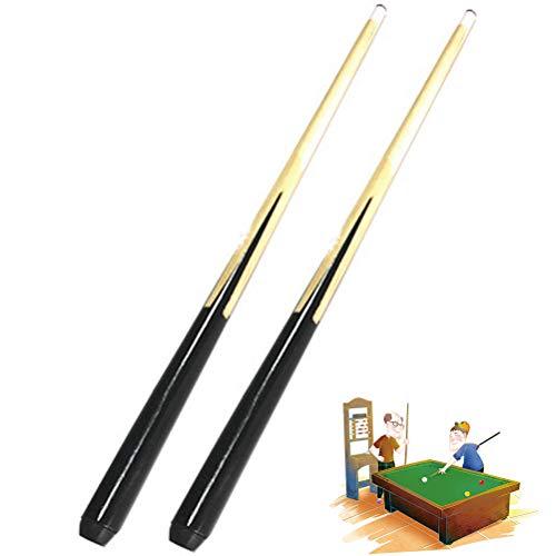 Tixiyu Billardqueue, 2 Stück, 50 cm, Billardqueue für Kinder, Billardqueue, Holz, für Unterhaltung, Snooker, Billard-Werkzeug, Spiele und Sport, professionelles Billardzubehör (schwarz)