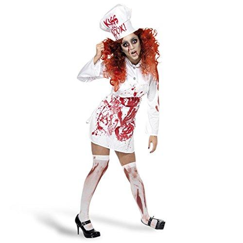 Generique - Zombie Köchin-Kostüm Halloween für Damen - M