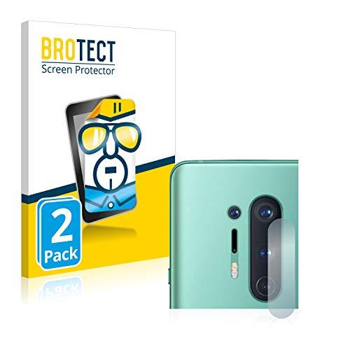 BROTECT Schutzfolie kompatibel mit OnePlus 8 Pro (Kamera) (2 Stück) klare Bildschirmschutz-Folie