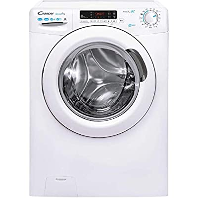 Candy CSOW 4955DC Freestanding Smart Pro Washer Dryer, WiFi Connected, 8kg+5kg Load, 1400rpm, White