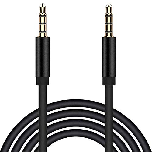 TRRS 3.5mm Stereo Audio Cable, rosyclo 4 Pole Male to Male Aux Cable Micphone Hi-Fi Sound Adapter/Auxiliary Wire/Extension AUX Cord for Car, Headphone, Speaker, Echo, iPhone, iPad, PC, MP3 (3.3ft/1m)