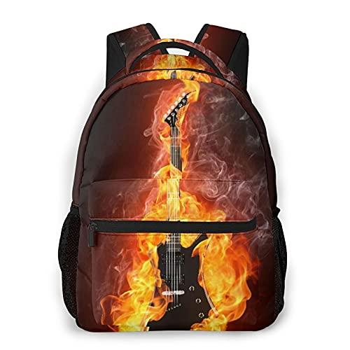 Judascepeda Mochila de ocio múltiple,Guitarra eléctrica In Fire Cool Rock Roll Tem,...