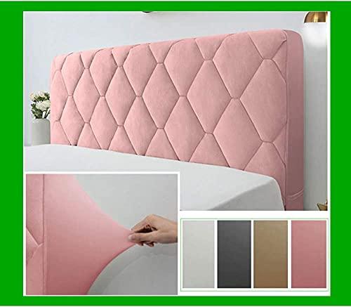 Funda para cabecera de cama, protector de cabecera de cama de algodón grueso para cama doble Queen Full California King Size lavable decoración de dormitorio, color rosa, 200 cm