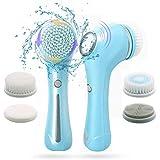 Spazzola Pulizia Viso e Massaggiatore Viso Ultrasuoni | Spazzola Viso Elettrica Rotante per Scrub Viso contro Punti Neri, Acne | Esfoliante per Pulizia del Viso