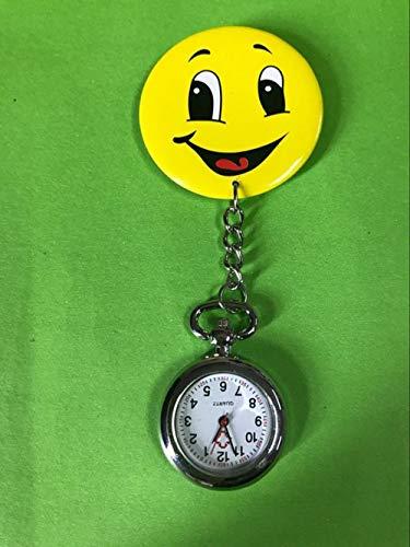 Nwarmsouth Colgante Enfermera Prendedor Reloj,Reloj médico General para Enfermeras, Reloj Creativo de Cuarzo para Estudiantes-4,Enfermera Broche de Reloj