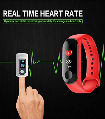 Fitness Trackers,Pantalla de Color Impermeable Monitor de Ritmo cardíaco Pulsera Inteligente Podómetro Contador de… 7