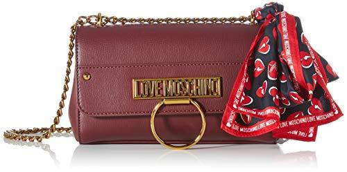 Love Moschino JC4236PP0BKF0, Borsa A Spalla Donna, Vino, Normale