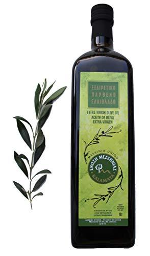 Griechisches natives Olivenöl extra | Messinia Union | Extra Vergine | 1 Liter / 1000 ml Flasche | kaltgepresst & filtriert | 0,8% Säuregehalt | Koroneiki Oliven aus Kalamata, Griechenland
