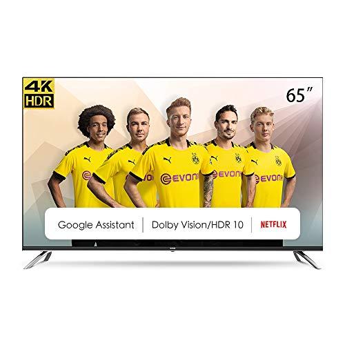 Televisor CHiQ Televisor Smart TV LED 65 Pulgadas, Android 9.0, Smart TV, UHD, 4K, WiFi, Bluetooth, Google Play Store, Google Assistant, Netflix, Prime Video, HDMI, USB - U65H7A