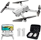 Tomzon Drone GPS D65 avec Caméra 4K pour Adultes Drone Pliable FPV RC Quadcopter avec Autonomie 40 minutes, Fonction RTH, Suivez-moi, Contrôle Gestuel avec Une Valise de Transport