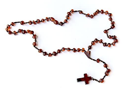 Collar rosario para hombres, Collar rosario, Collar de ambar baltico, Ambar baltico, Ambar baltico autentico, Ambar con certificado,