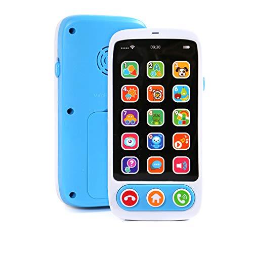 Dunmo Juguete multifuncional del teléfono celular del bebé con la música ligera y el sonido educativo llamada y chat juguete del teléfono falso para el juego de rol