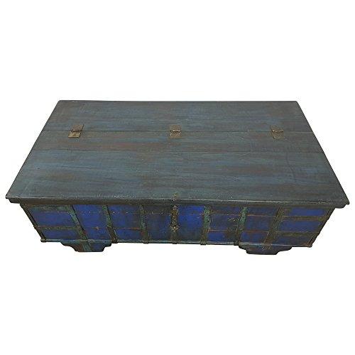 Indoortrend.com Truhen-Tisch Couchtisch Holz-Kiste Wohnzimmertisch Aufbewahrung Vintage Massiv - 3