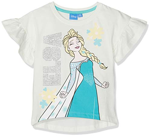 Disney La Reine des neiges 5592 T-Shirt, Écru (Crème Crème), (Taille Fabricant:4 Ans) Fille