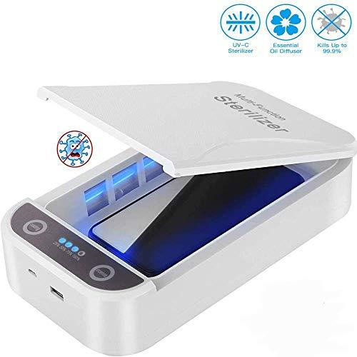 Gnceei UV Sterilizer Portátil Caja de Desinfección del Teléfono Celular, Sterilizer con Cable USB para iPhone Android, Máscara, Pantalla de Joyería, etc