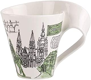 Villeroy & Boch Cities of the World Coffee Mug Prague, 300 ml, Premium Porcelain, White/Multicolour