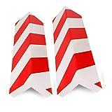 2 unidades Columnas Parking protector puerta garaje Esquina Parking Adhesivo Al Apagar Paragolpes Protector para La Puerta de Coche 40 * 15 cm-ROJO/BLANC (2Unid-40 * 15cm)