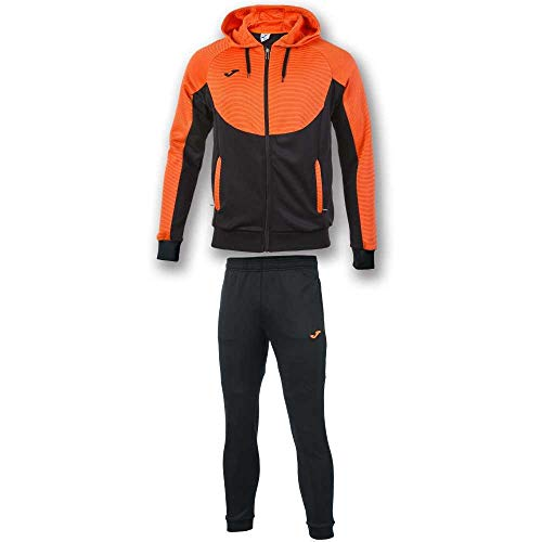 Joma Tuta da uomo con cappuccio Essential, da uomo, nero/arancione, S