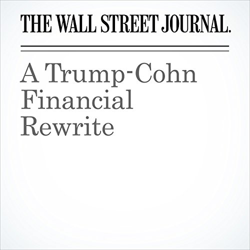 A Trump-Cohn Financial Rewrite copertina