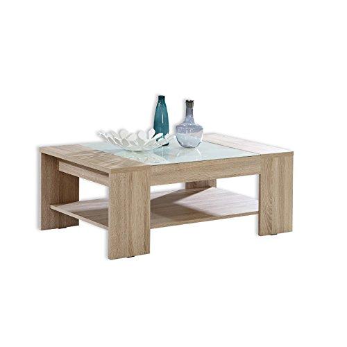 Forte Coffee Table with Shelf, Sonoma Oak, 120 x 71 x 45 cm