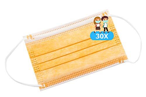 TBOC Maschera Igienica per Bambini Non Riutilizzabile - [Pack 30 Unità] 3 Strati [Colore 11]