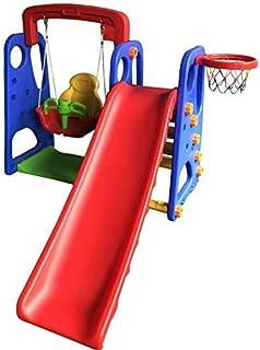 3 in 1 swing playground for children, children's swings, slides and a basketball basket garden toys for children over 3 ye...