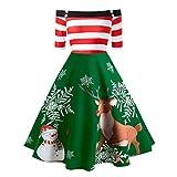 Tosonse Vestidos De Navidad para Mujer con Hombros Descubiertos Vestido De...