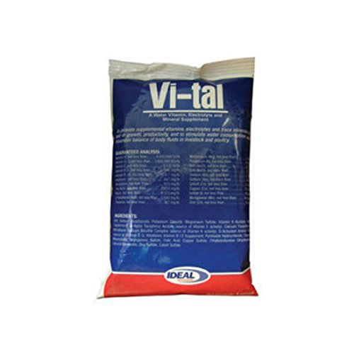 VI-TAL Water-Soluble Animal Health Supplement for Livestock and Poultry, with Essential Vitamins, Electrolytes and Minerals, 6 oz. Package