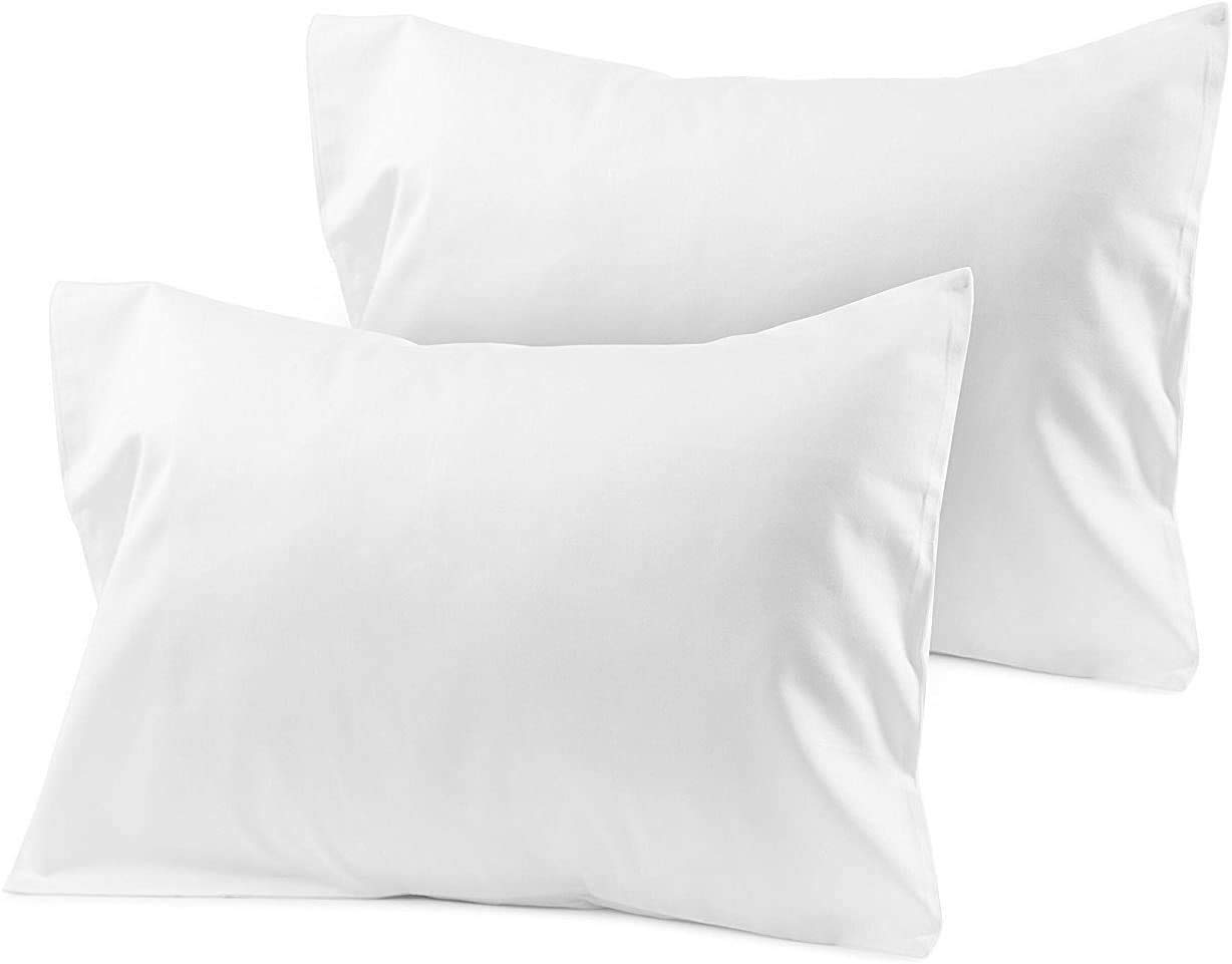 Toddler Travel Max 67% OFF Pillowcase 14x20 White P Zipper safety with Solid Closer