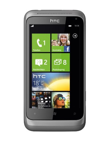 HTC Radar Smartphone (9,6 cm (3,8 Zoll) Touchscreen Display, 5 Megapixel Kamera, GSM, UMTS, HSDPA, WiFi, micro USB 2.0, Windows Phone 7.5) metal silber