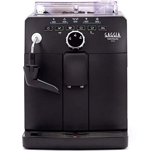 """Gaggia Naviglio Milk One-Touch Cappuccino and Espresso Machine, Black, 17.3"""" d x 13.4"""" h x 10"""" w"""