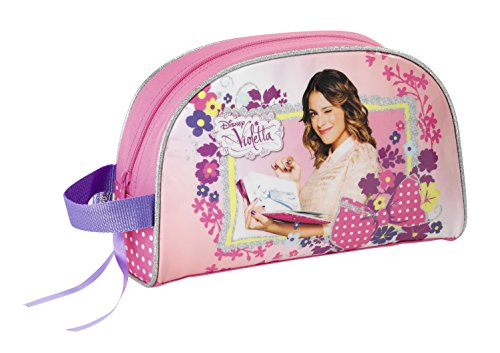Disney Violetta Flowers Kulturbeutel Kulturtasche Beauty Case Tasche 28 x 18 x 10 cm