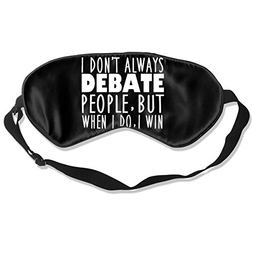 Lijiahua Funny Speech and Debate Quote Sleep Mask for Women & Men, Eye Mask for Sleeping with Adjustable Strap, Blindfold