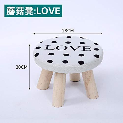 LJQLXJ divano Cloth Stool Fashion Home Adult Living Room Stool Sofa Stool Solid Wood Stool Small Bench Bench Small Block,Style 24