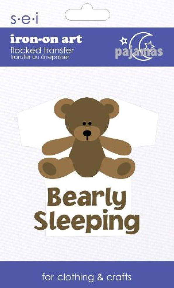 SEI 3.35-Inch by 5-Inch Bearly Sleeping Iron on Transfer, 1 Sheet