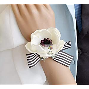 Artificial and Dried Flower 5Pcs/Set Brand Hand Made Anemone Wedding Party Prom Bridal Mother Bridesmaid Hand Wrist Flower Women Corsage