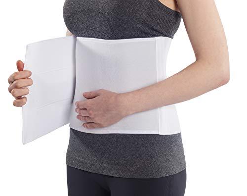 "NYOrtho Plush Elastic Abdominal Binder - Soft Latex-Free Wrap for Men and Women (30"" - 45"") 3 Panel - 9"""