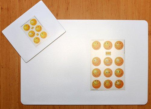 Schreibtischunterlage 40 x 60 cm Set mit Mousepad transparent zum Selbstgestalten | Einstecken von Fotos | Bildern | Terminen | Notizen abwischbar Gestaltung