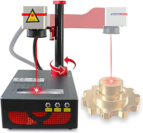 Fiber Laser Marking Machine 150x150mm Laser Engraving Machine 20W for Metal,Sliver,PVC,ABS,Acrylic,Gold (110V)