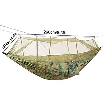 Wifehelper Portable Camping Voyage Hamac Lit Suspendu avec Moustiquaire pour Randonnée en Plein Air Voyage Randonnée (Camouflage)